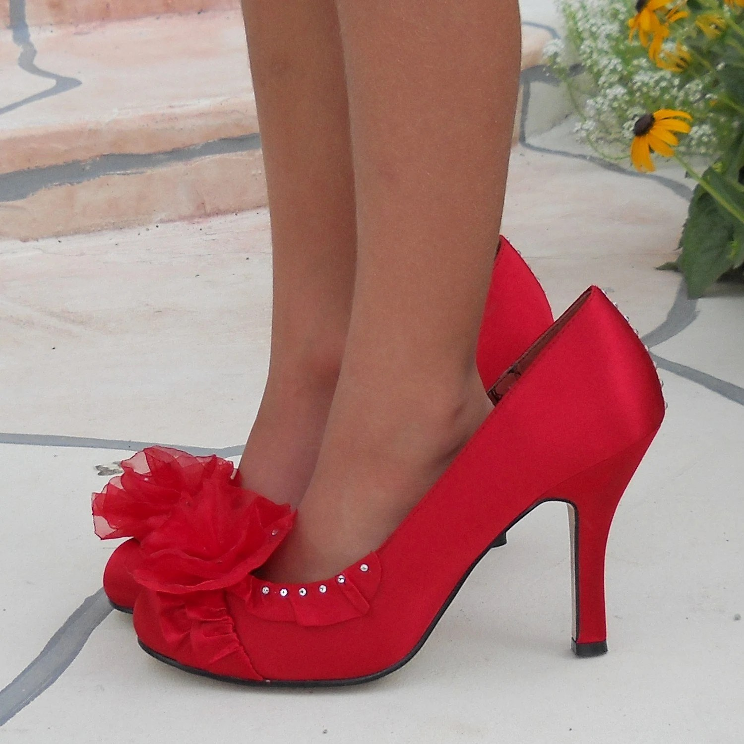 Glam Red HIGH HEEL SHOES