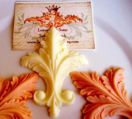 Champagne Scented  Fleur di Lis Gift Soap