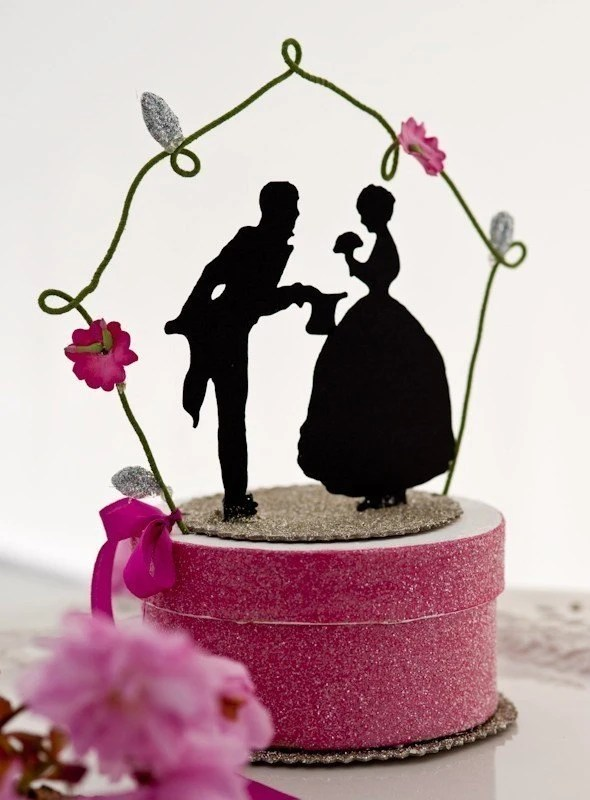 Just for Fun Silhouette Wedding Topper