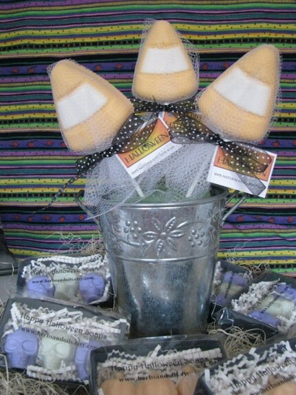 Halloween Candy Corn Soap  Party Favor  Trick or Treat  Autumn Gift discount given below
