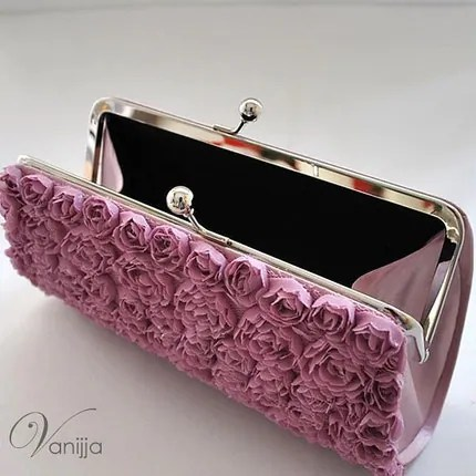 The Lalita Clutch in Lilac..Medium size