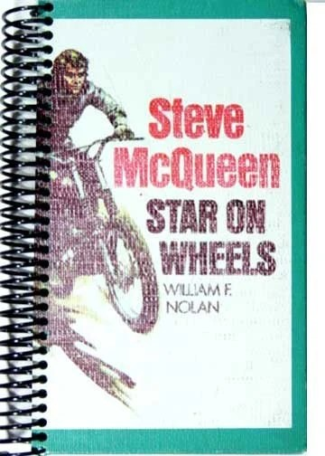 Steve McQueen Star on Wheels recycled book blank journal