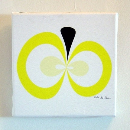 canvas yellow apple print