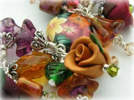 TAPESTRY - Artisan Crafted Beaded Fringe Charm Bracelet