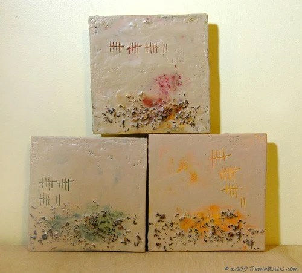 encaustic painting series - jamie ribisi