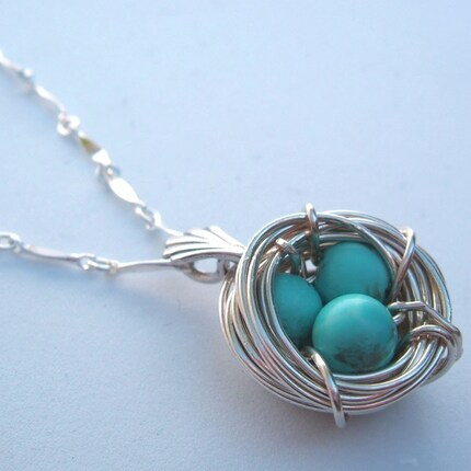 Etsy - Birds Nest Necklace from AdornJewelry
