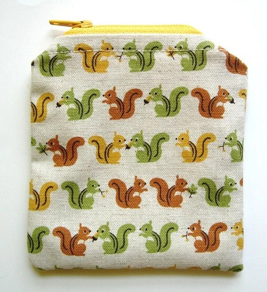 Squirrel Card or Coin Pouch