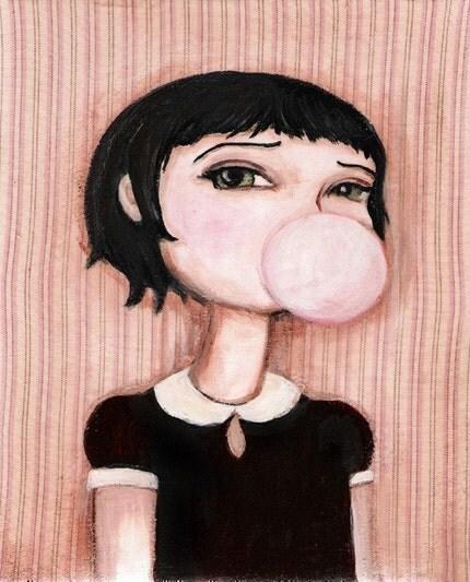 Bubblegum Betty Print