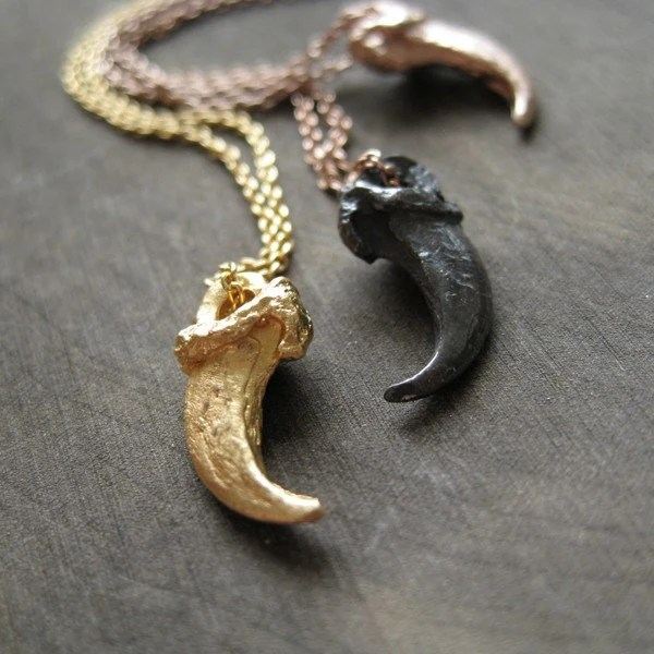 Fox Claw Necklace Gold Vermeil