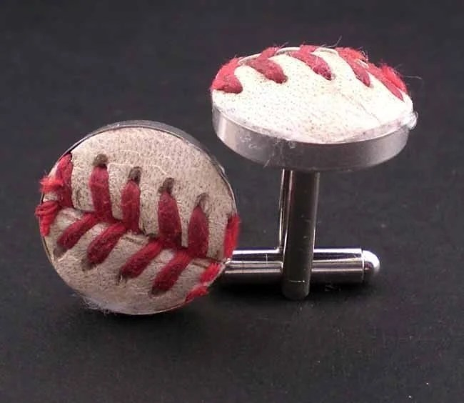 Authentic Baseball Sterling Silver Cufflinks