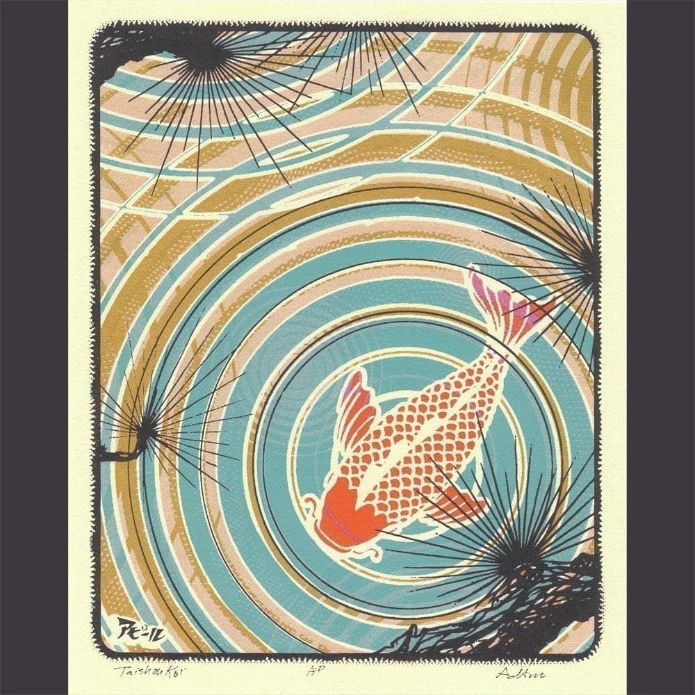 Koi Pond print by Ahpeele
