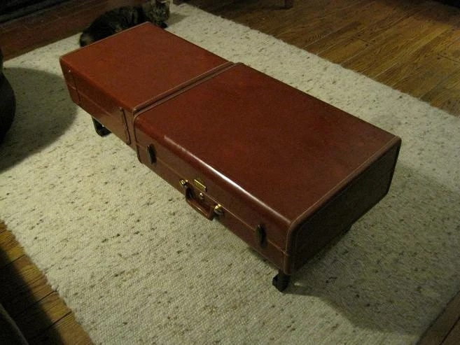 Suitcase Coffee Table - Made from reclaimed materials