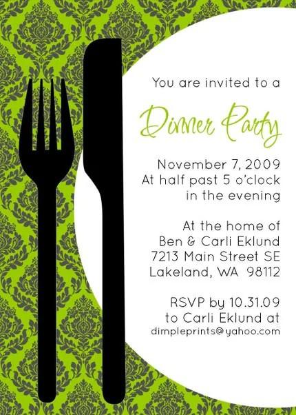 Custom You Print Digital Invitation..Dinner Invitation...Let's Eat