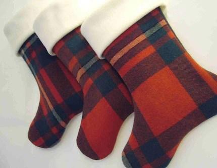 Vintage British Wool Blanket Stocking