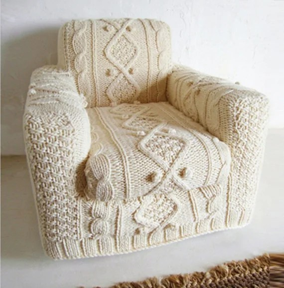 knit couch