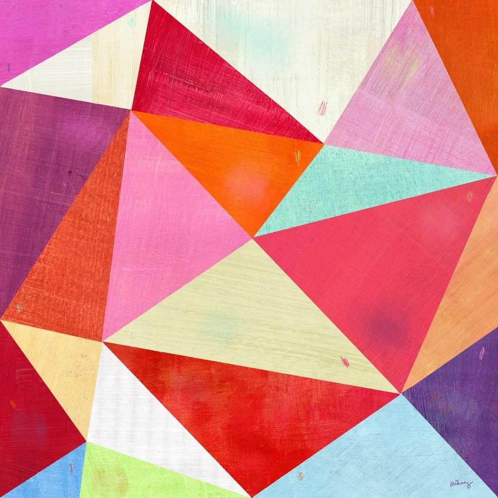 Pink Triangle Print