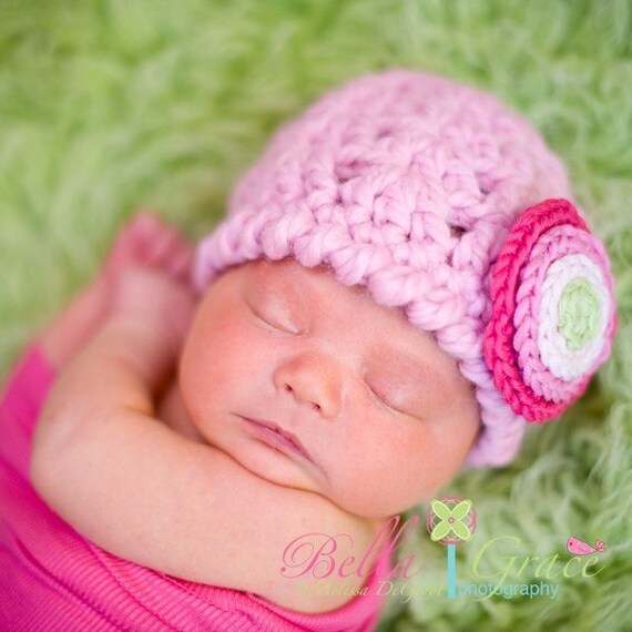 Chunky Wool (Cotton Candy) - newborn size