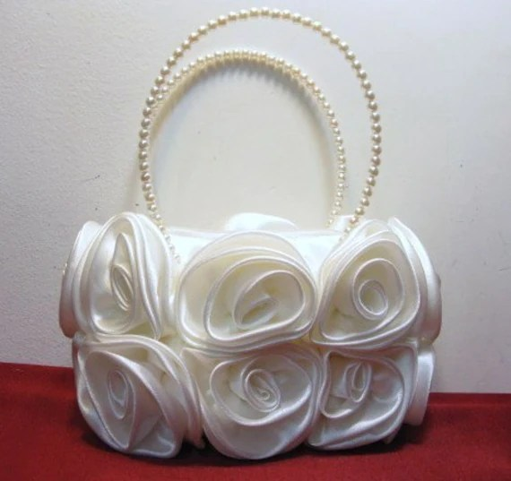 Bouquet of Roses Small Handbag in Ivory