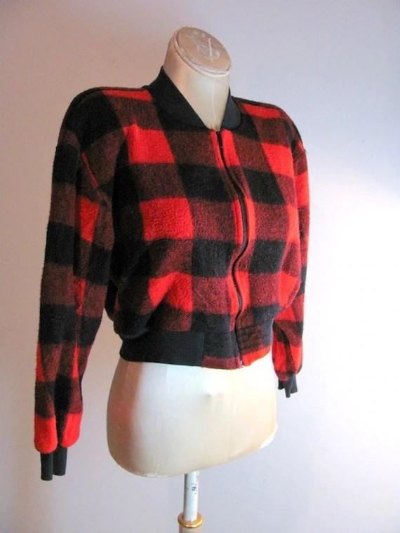 Vintage Red and Black Lumberjack Coat