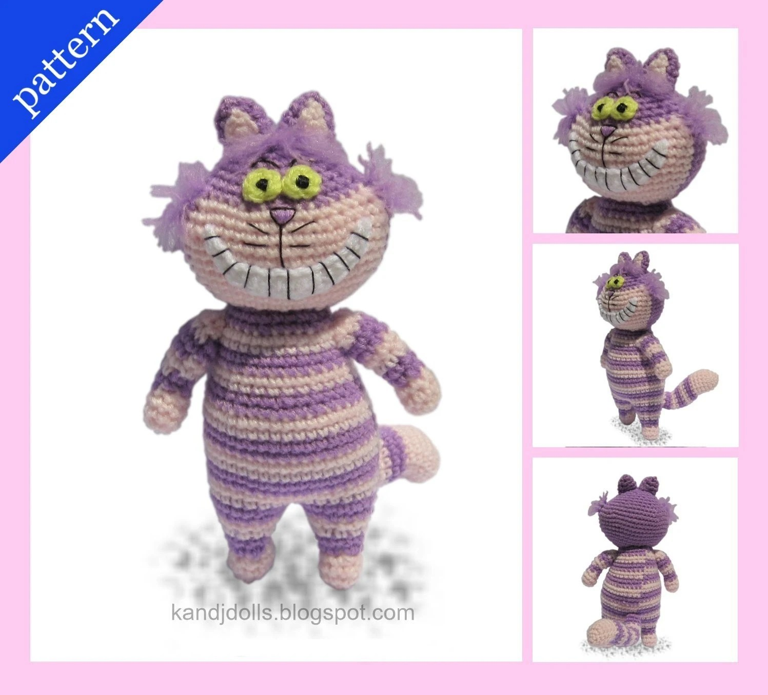 Cheshire Cat - PDF Amigurumi crochet pattern