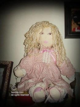 Amanda in Pink Handmade Rag Doll