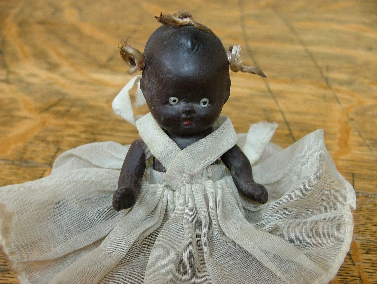 Small Bisque African American Vintage Doll