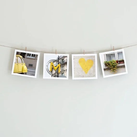 Paris in Yellow - Collection of Four 5x5 Photos