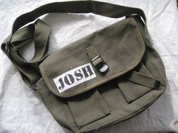 Custom Boy Army Messenger Bag