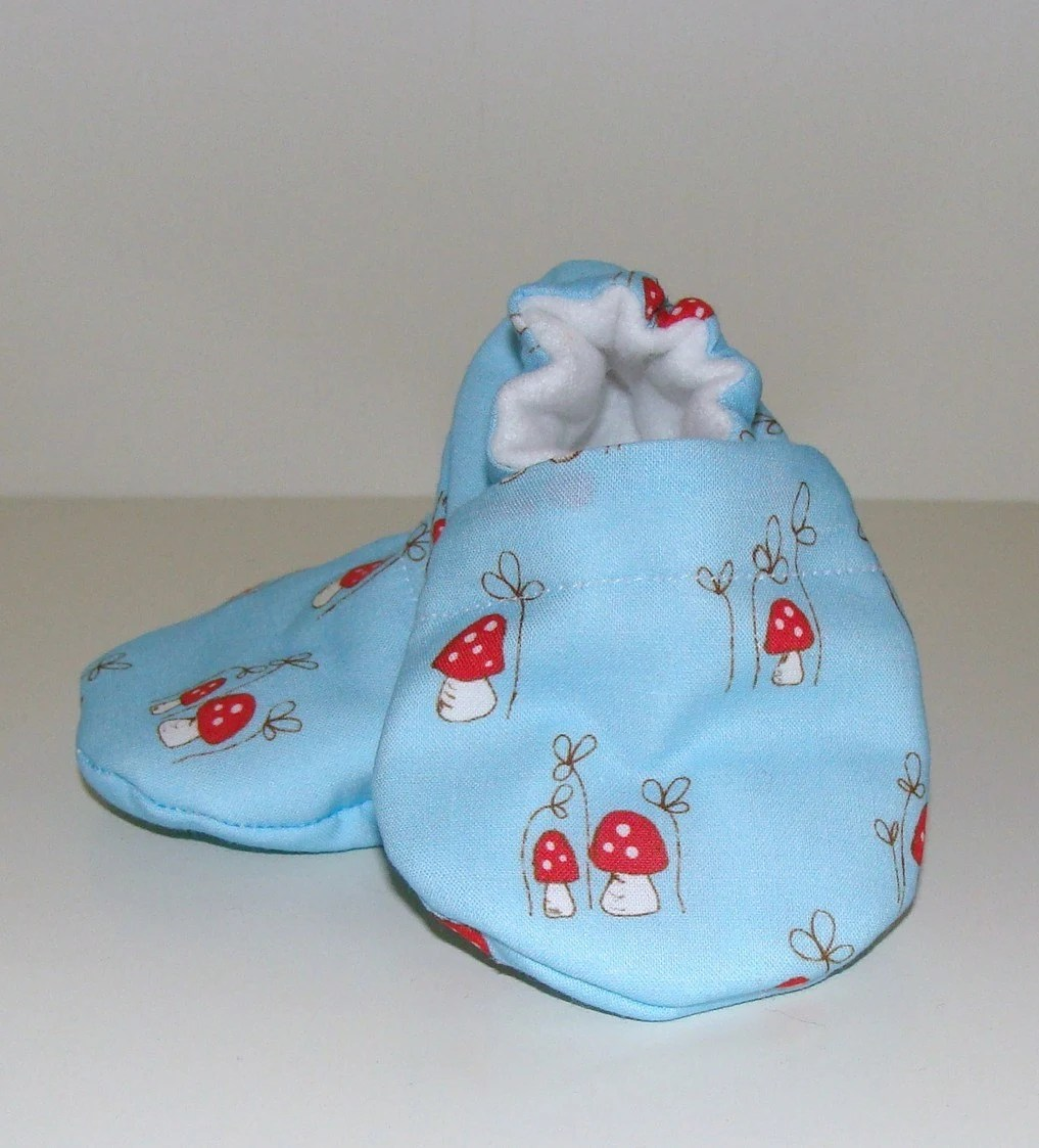 Mini Magical Mushroom Shoes for a 0-6 month old.  Free Shipping.