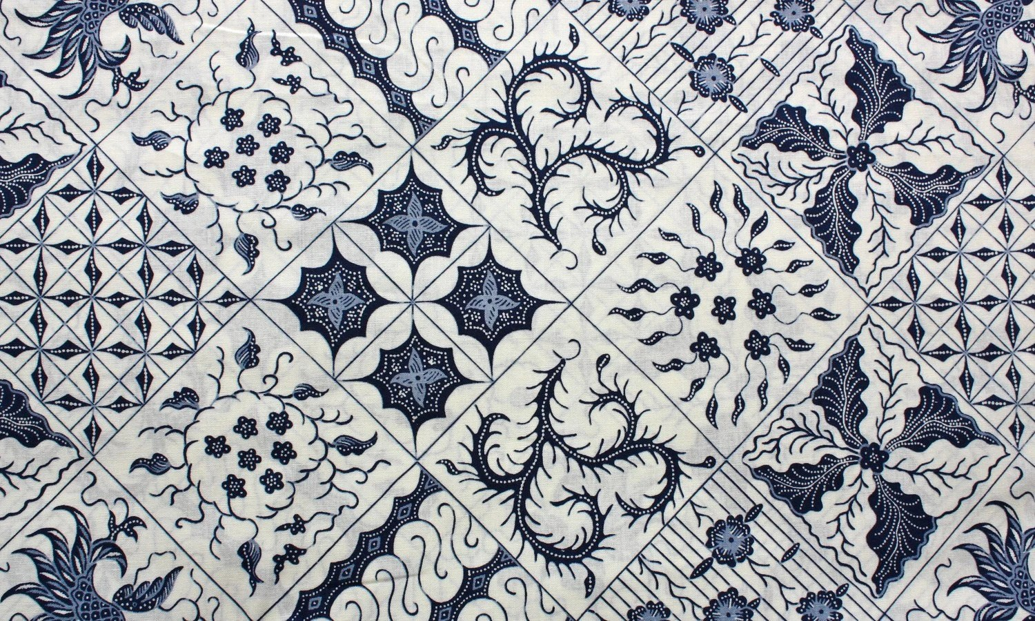 Printed Squares Batik Fabric - Buy More and Save