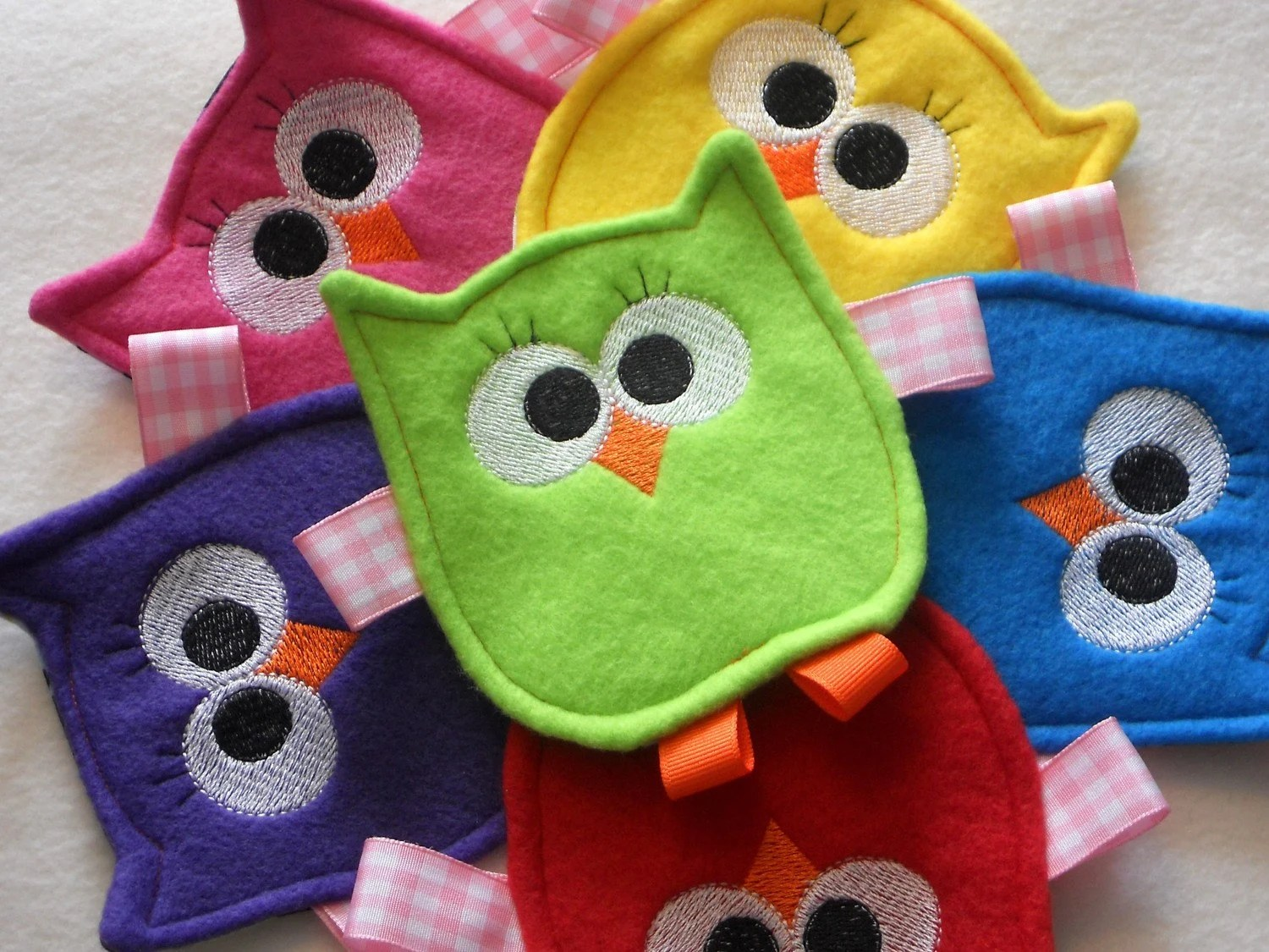 owl baby toy crinkle sew