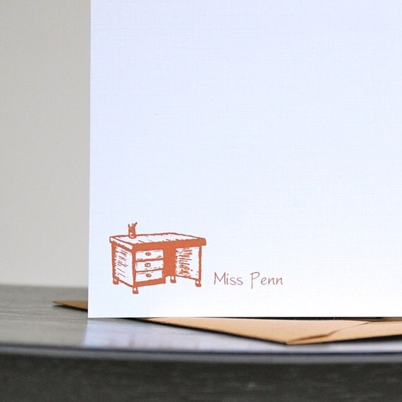 Teacher's Gift Personalized Note Cards