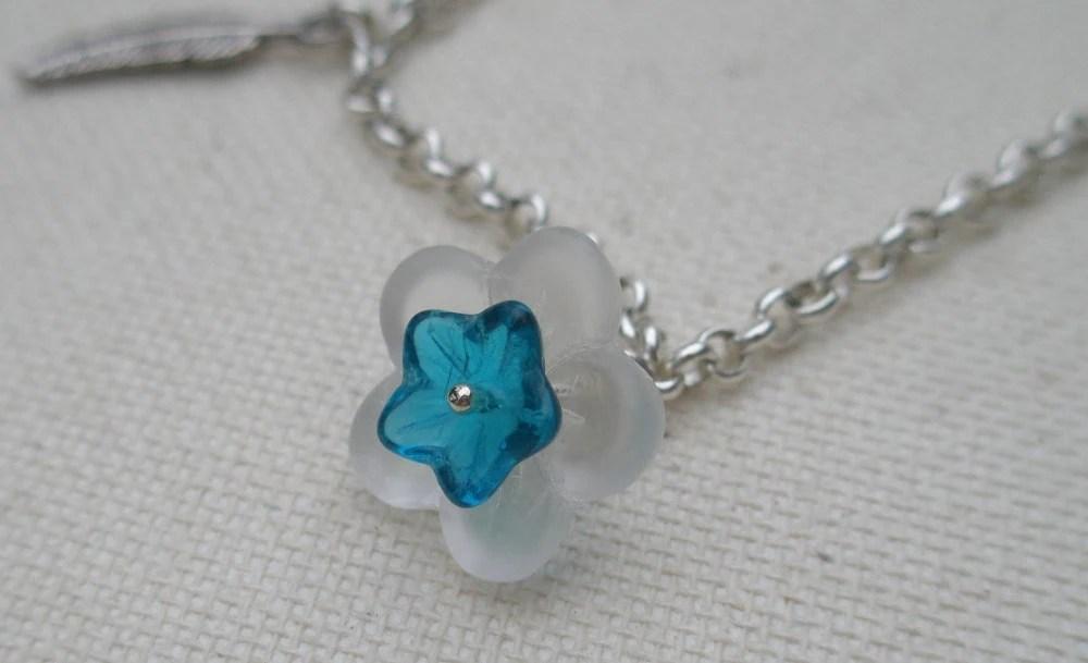 flower bracelet charm pendant accessory