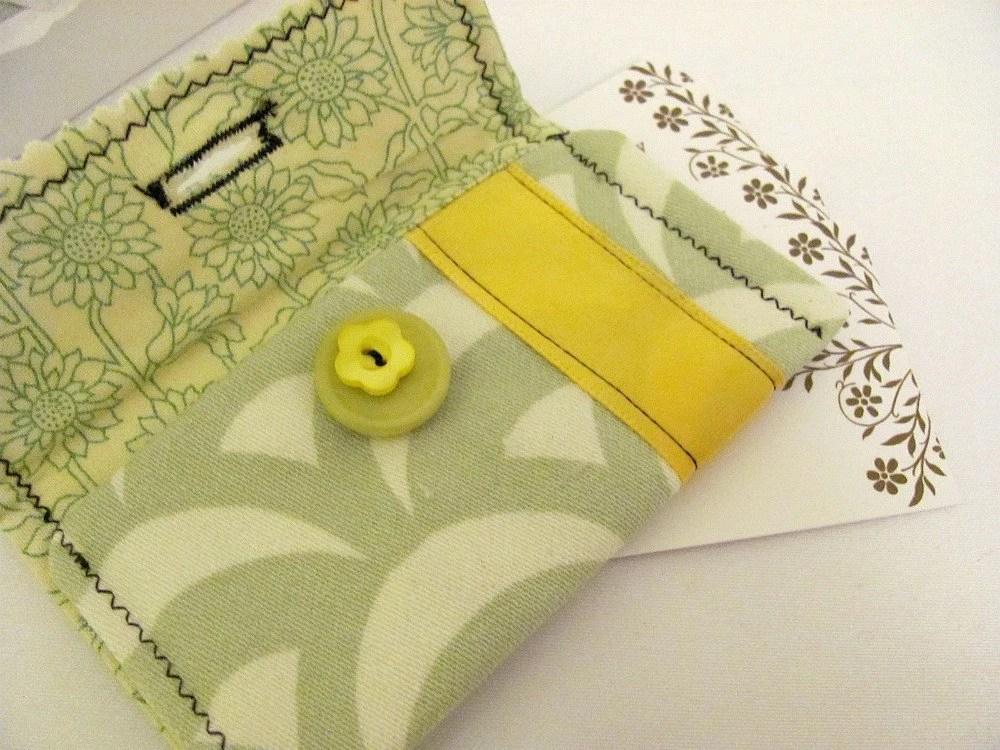 Lemon Lime Mini Wallet, Business Card Holder,Gift Card Holder