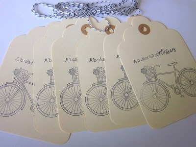 Wishes Gift Tags with bicycle