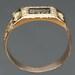 Antique Georgian ring black enamel friendship 18kt yellow gold