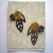Bronze and Yellow Leather Earrings