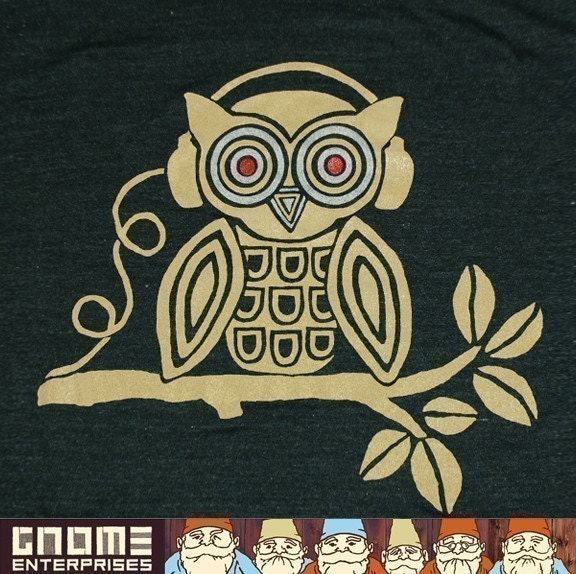 Headphones Owl Tee