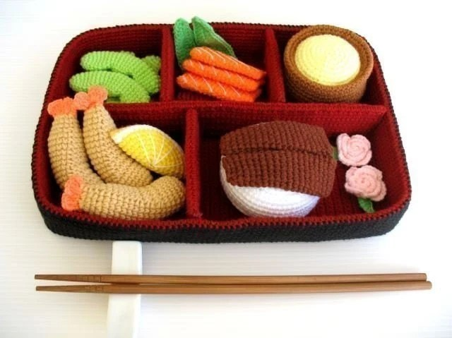 Crochet Pattern - BENTO -  Playfood