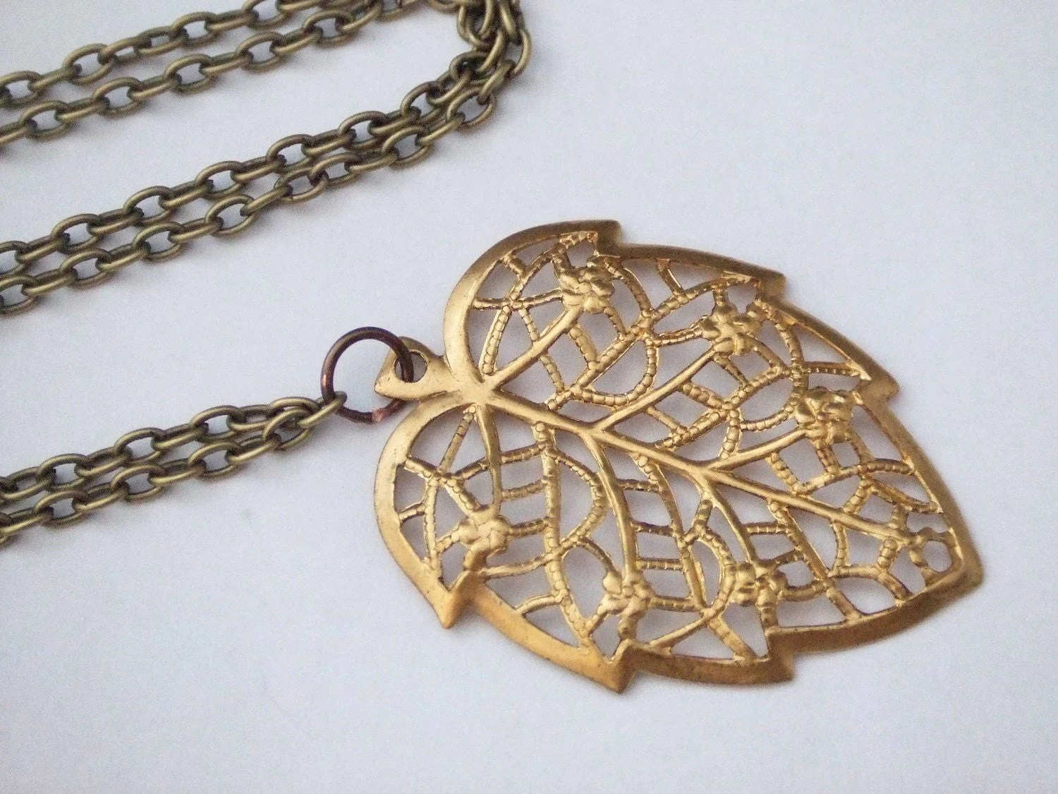 Whimsy Gold Leaf Necklace