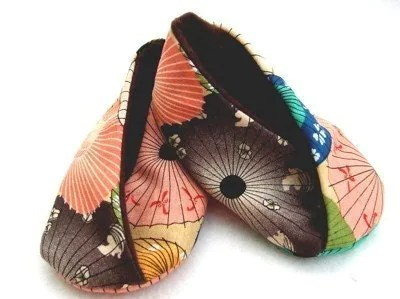 Chinese Fans Kimono Booties