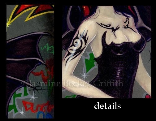 Bat Tattoos gothic urban tribal