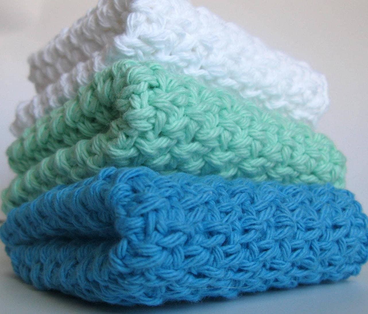 Crochet Maggies Ocean Waves Dish Cloths
