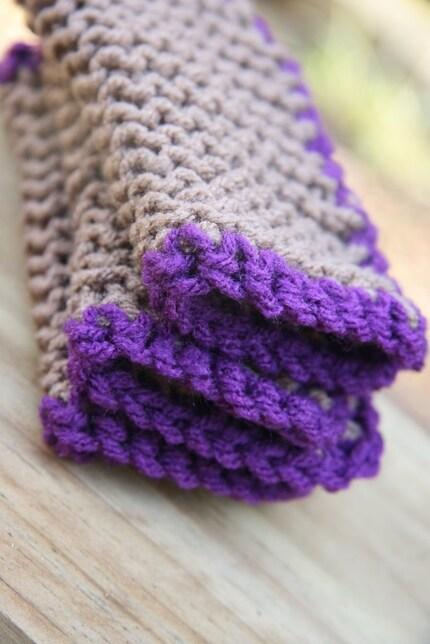 Not just another brown Scrubbie - Purpley Purple - EcoFriendly - 3 Scrubbies