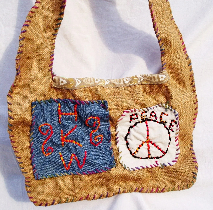 Hippie Bag - Hong Kong Willie Peace Bag - FREE SHIPPING