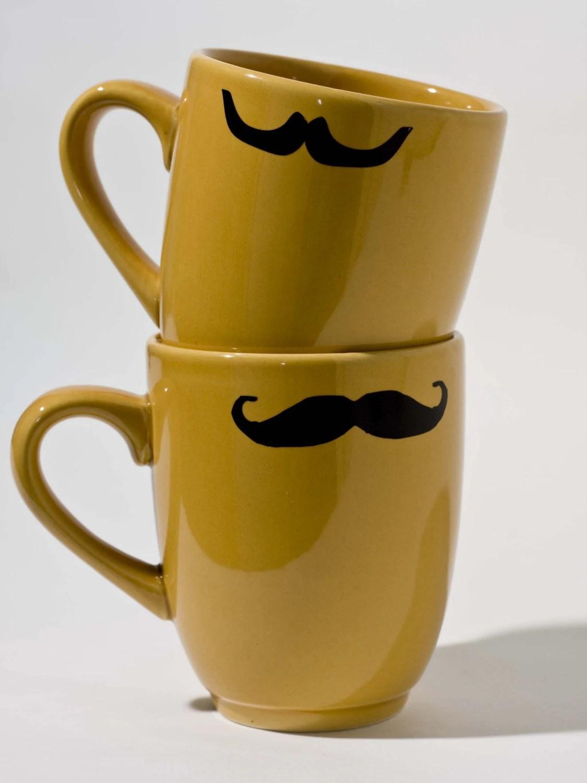 Gold Mustache Mug Set by Kimay