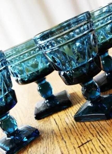 Vintage Blue Glassware