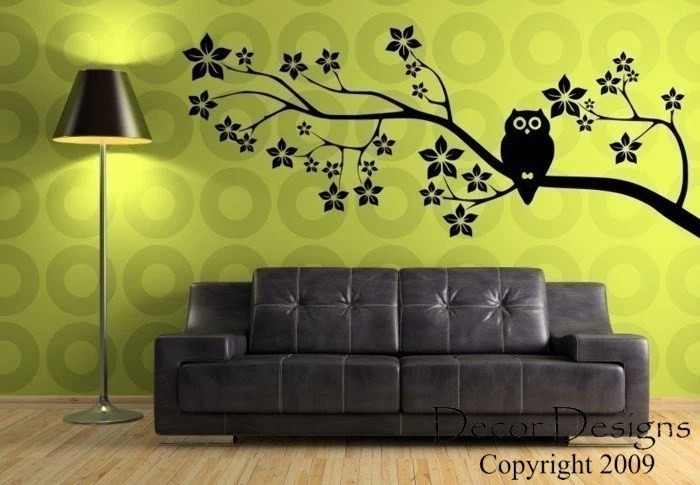 Owl On a Blossom Branch FREE SHIPPING