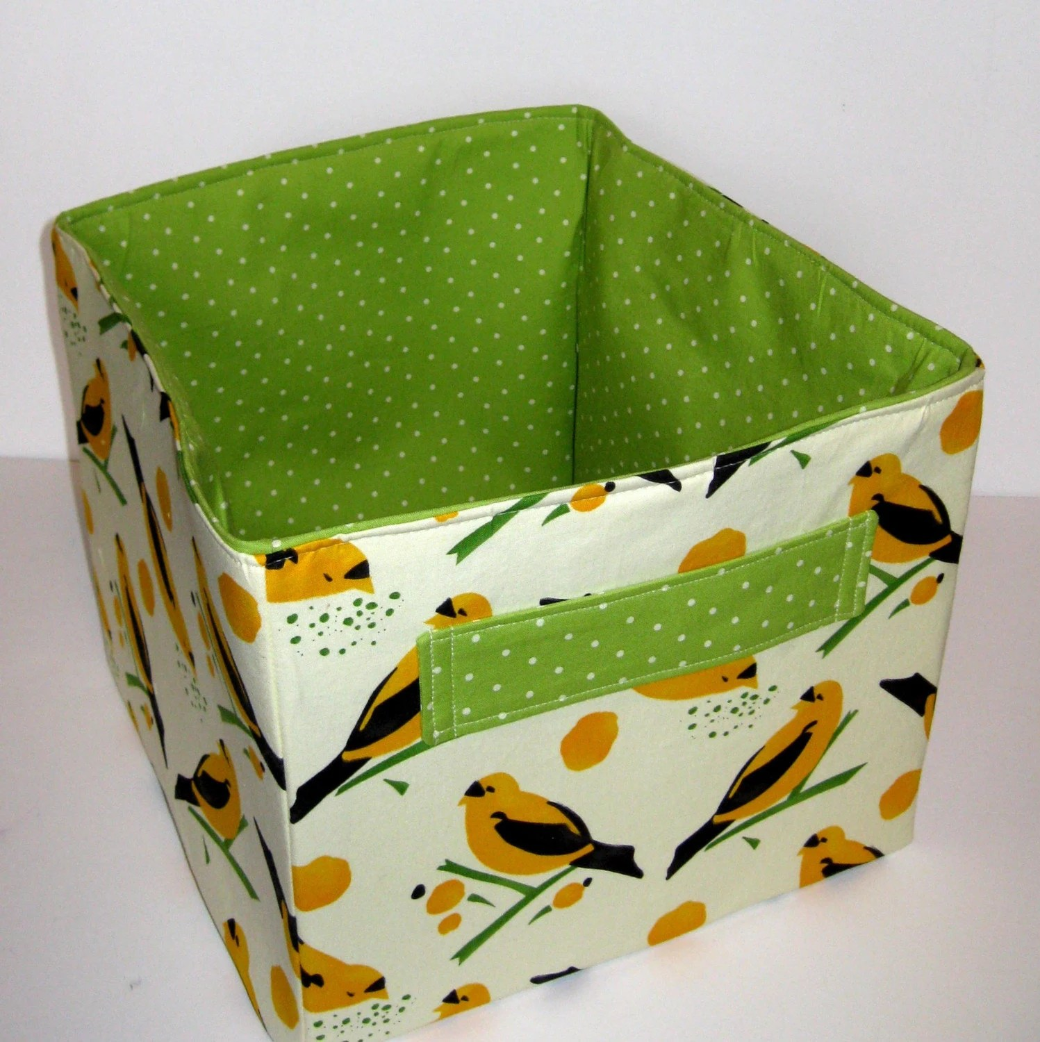 Yellow Canary Large Square Fabric Bucket