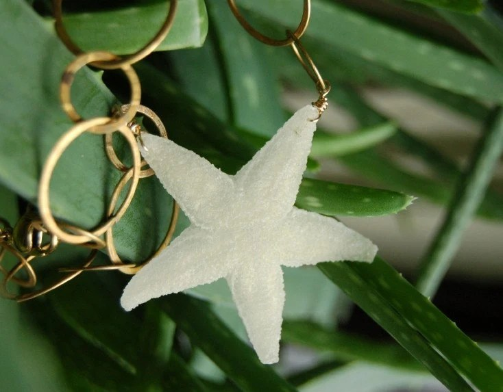 Small Ivory Resin Starfish Necklace
